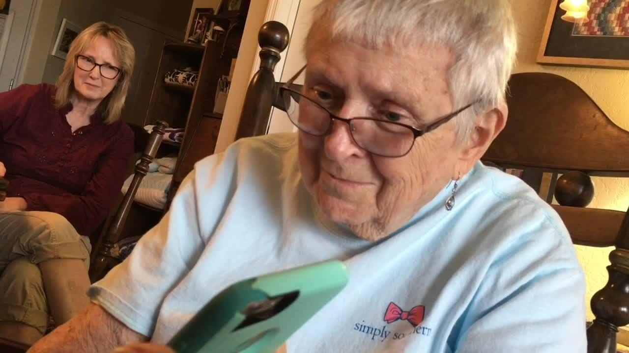 Brevard's Alice Jacobs Brandon has been pen pals with Margaret Gordon Jackson  for 75 years and counting. Video by Tim Shortt, and Britt Kennerly.