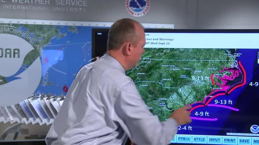 Ken Graham, director of the National Hurricane Center, gives insight into the threat of Hurricane Florence and how long she could last.