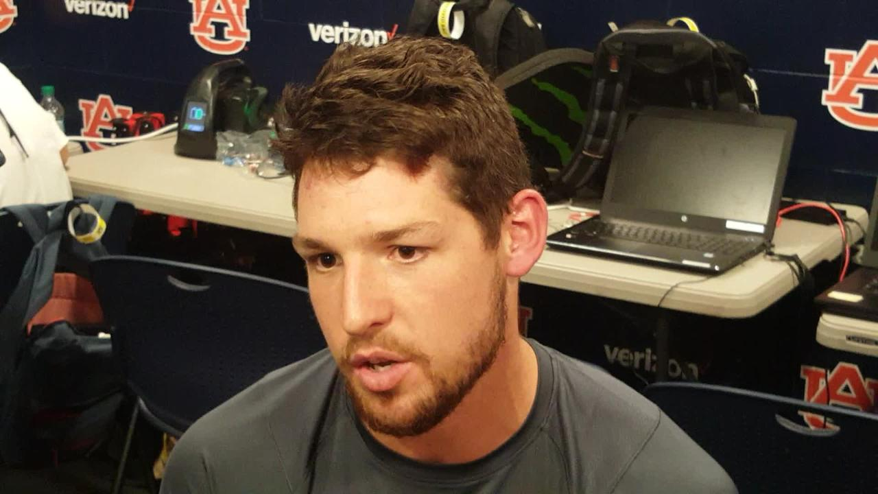 The 25-year-old Australian describes what it was like playing in front of the Jordan-Hare Stadium crowd for the first time.