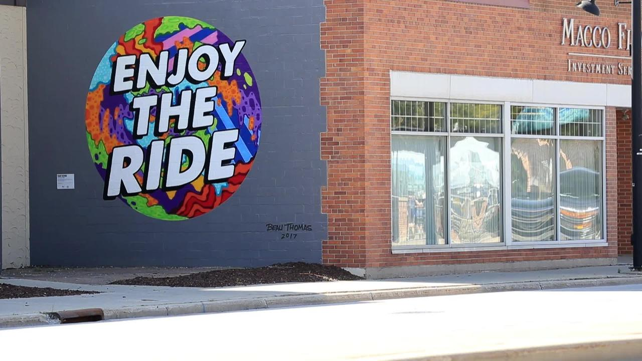 Green Bay artist Beau Thomas' work started with graffiti and evolved to public murals.