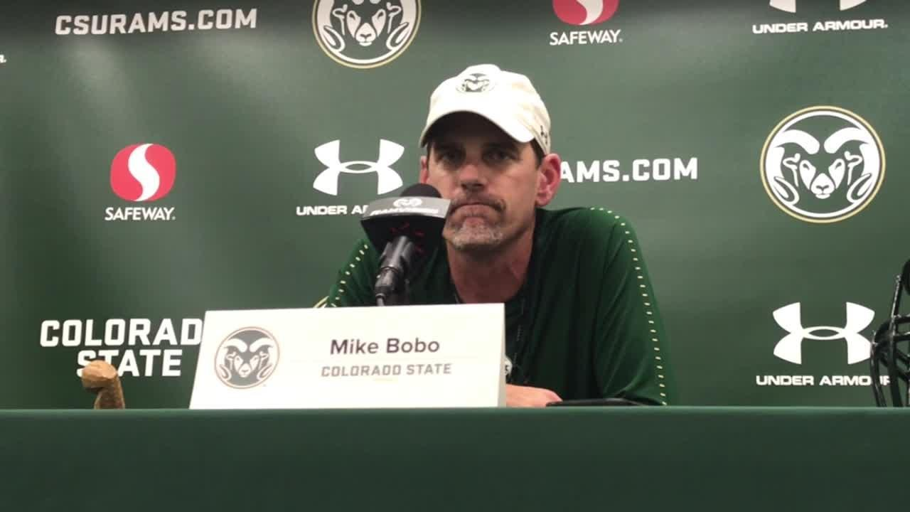 """CSU football coach Mike Bobo talks about finding a """"diamond in the rough"""" in recruiting with Emmanuel Jones."""