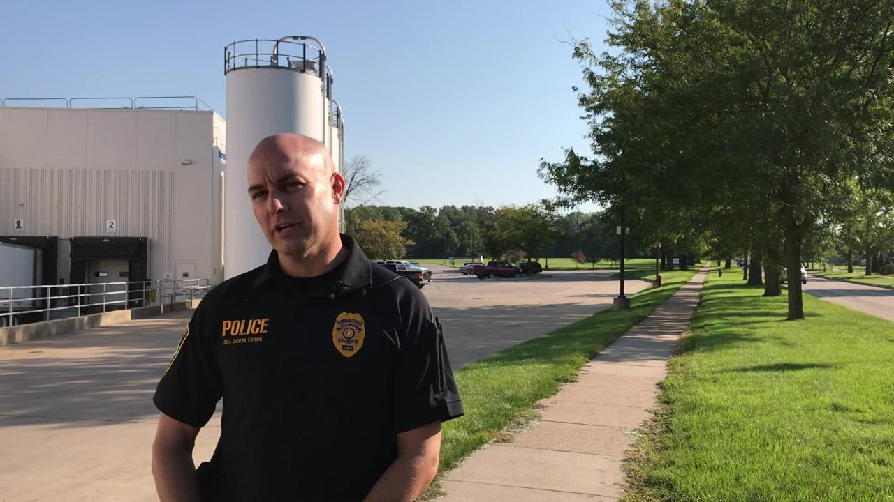Iowa City Police Sgt. Derek Frank talks about the response to the suspicious package found at Tate High School Thursday morning, Sept. 13.