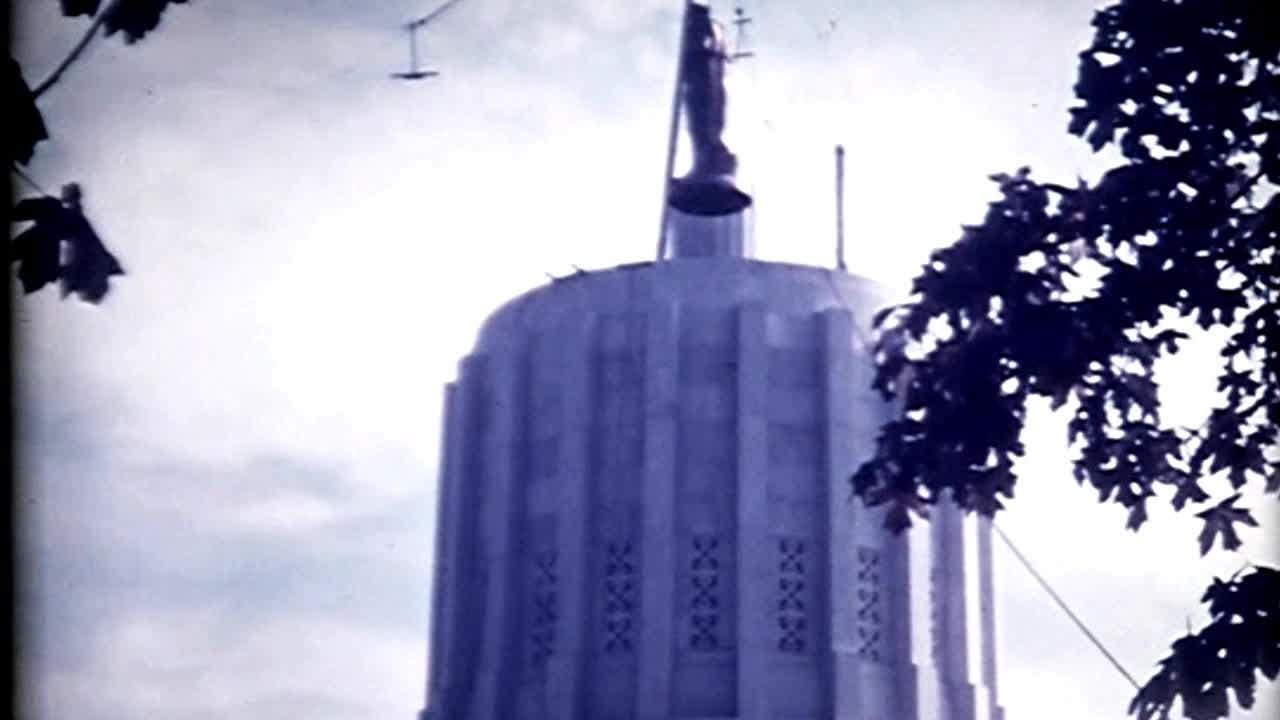 A retrospect on the Oregon Pioneer, including 1938 footage from the day he was placed on top of the dome of the State Capitol, for his 80th birthday.