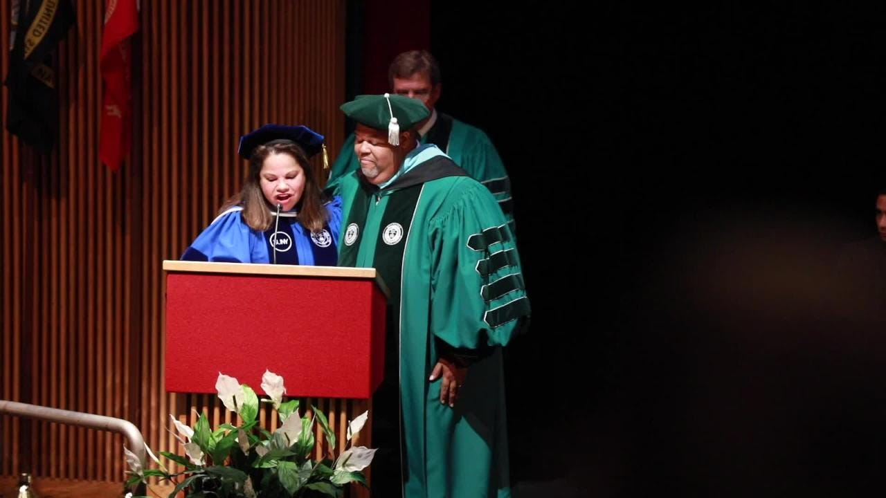 Michael Baston was inaugurated as Rockland Community College's seventh president at a ceremony in the school's Cultural Arts Theater  Sept. 13, 2018.