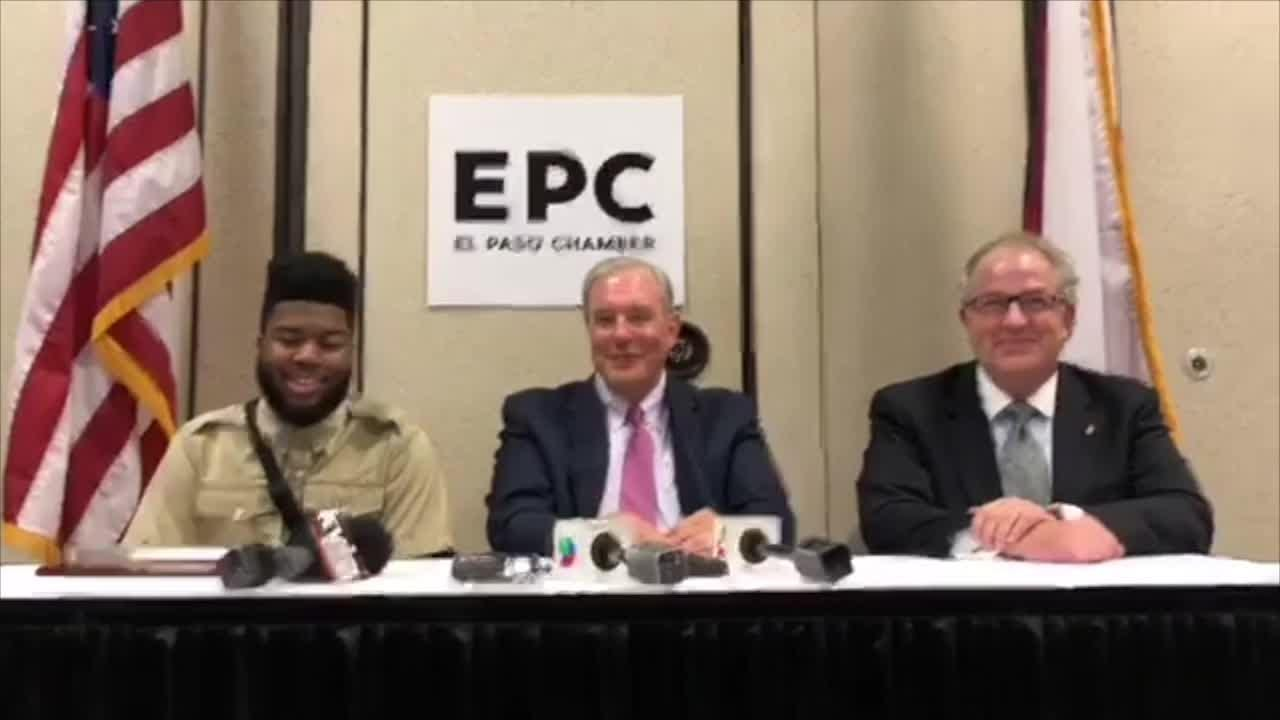 Recording artist and El Pasoan Khalid reacts to receiving Key to the City from El Paso Mayor Dee Margo