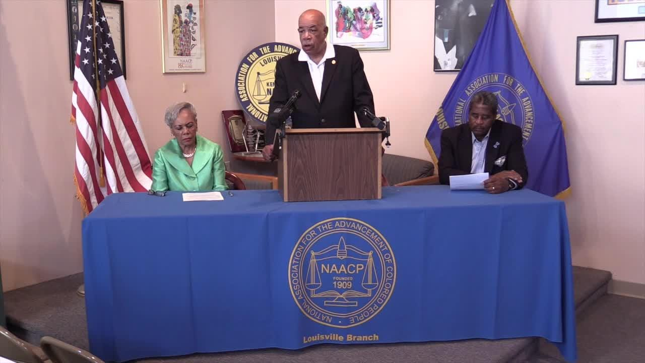 Louisville NAACP demands JCPS African American history and sensitivity education after Ballard watermelon incident at high school football game.