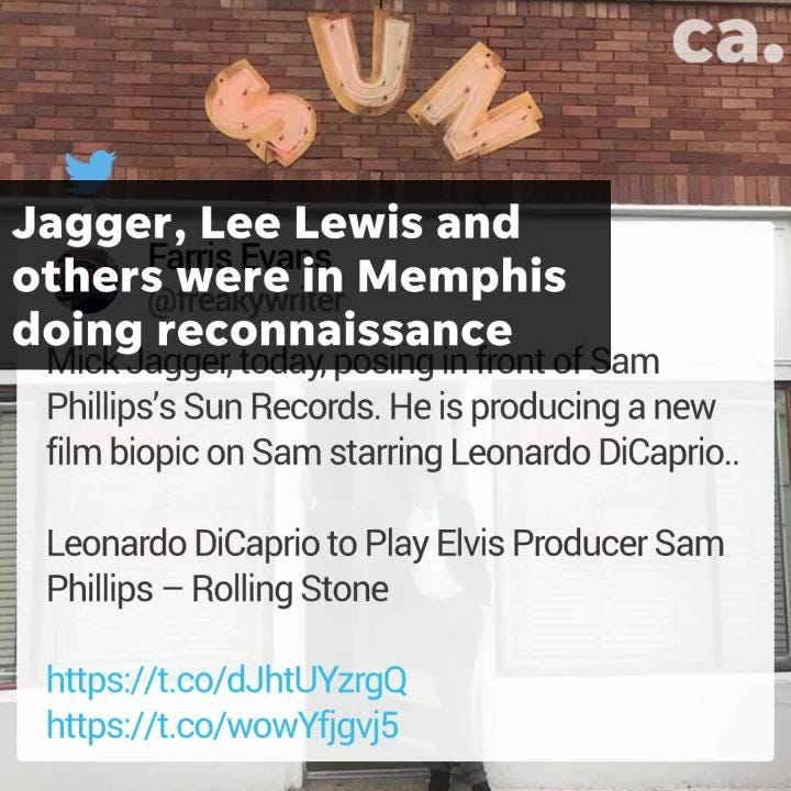 Why was Mick Jagger in Memphis this week?