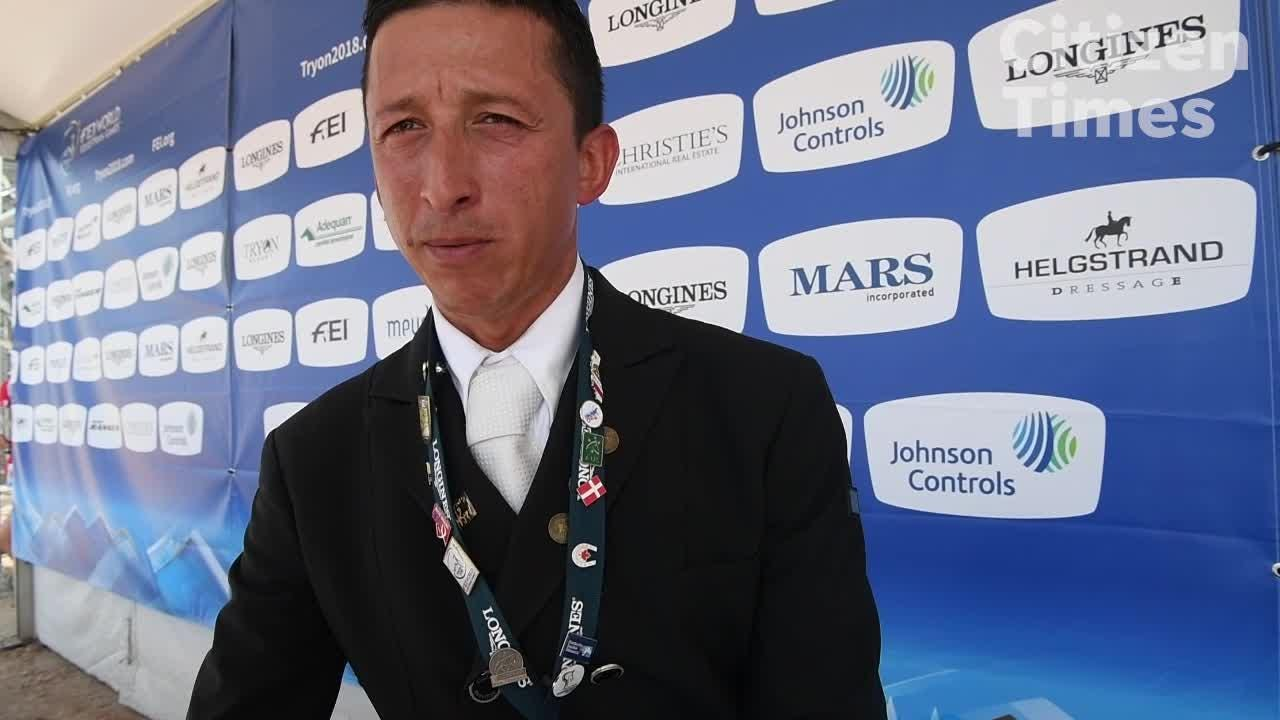 Julio Mendoza on his dressage performance at the World Equestrian Games.