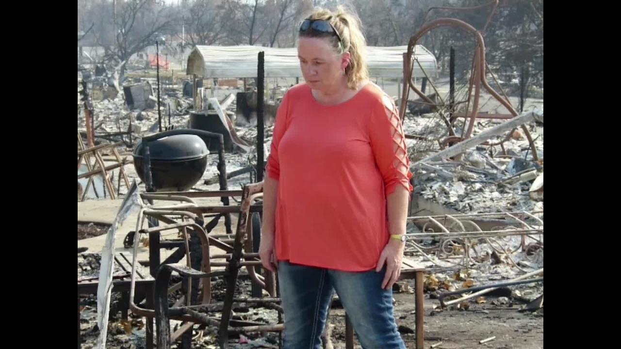 Zita Harrington Biehle, a single mother of 6, lost her Lake Keswick Estates home in the Carr Fire.