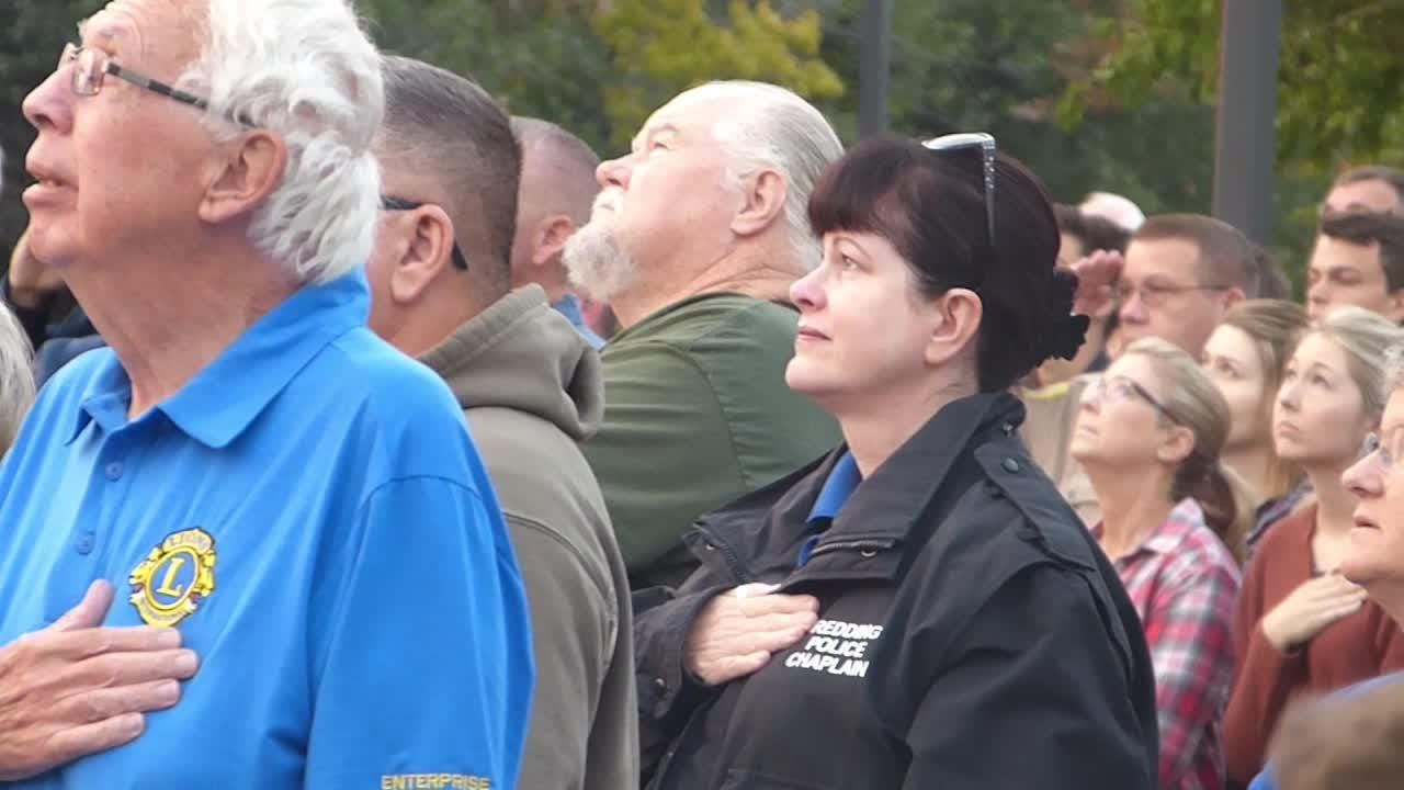 The 17th anniversary of 9/11 was observed Tuesday in a sunrise service in Redding.