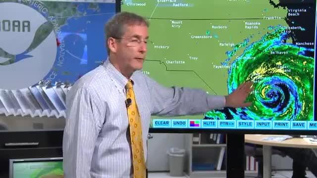 Ed Rappaport, deputy director of the National Hurricane Center in Miami, discusses what inland residents of the Carolinas can expect in rainfall from Hurricane Florence.