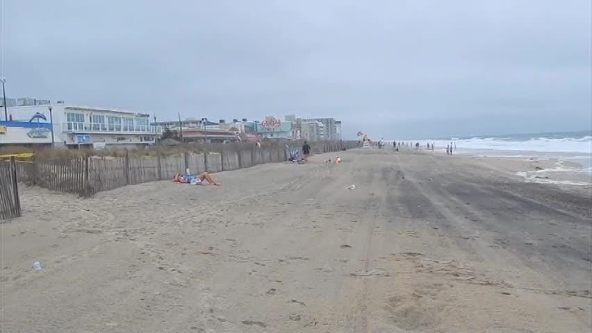 Raw video: Delaware Beaches affected by Hurricane Florence