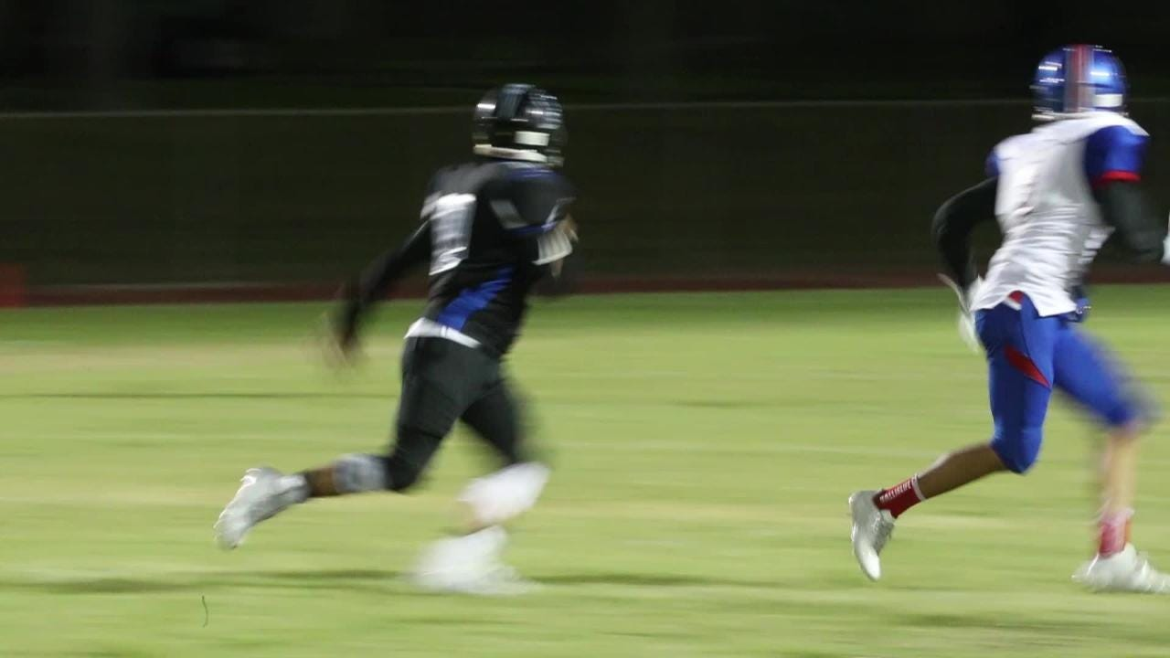 Indio finally got its first touchdown of the season early in Thursday's game against Cathedral City, and they liked it so much they did it six more times.