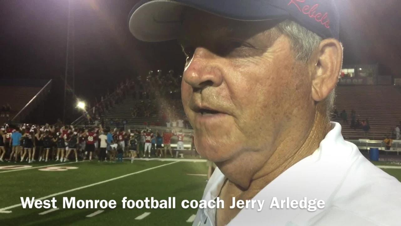 West Monroe head football coach Jerry Arledge recalls running back Cam Wright's career-tying outing v. Wossman.