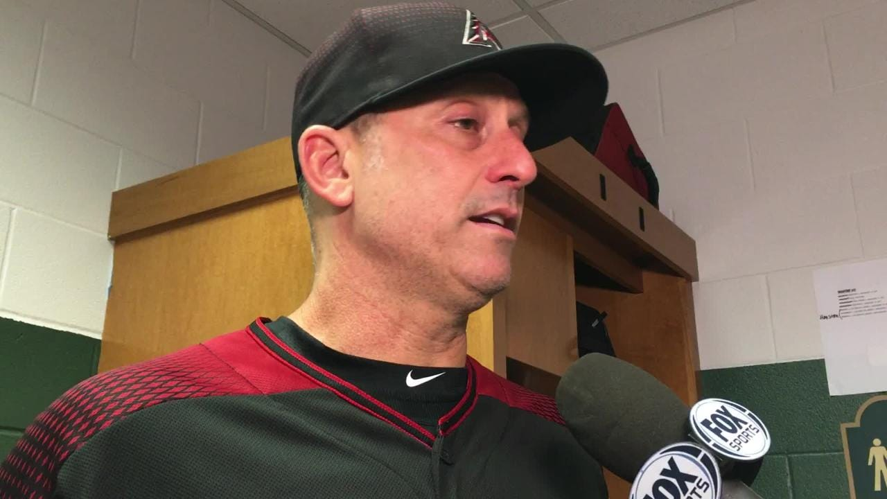 Diamondbacks manager Torey Lovullo talks about his team's 4-2 win over the Astros on Friday night at Minute Maid Park.