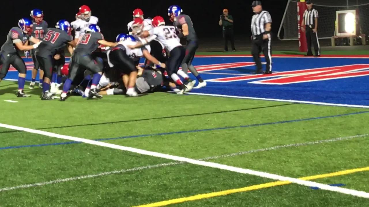VIDEO: Owego's Phelps burrows into the end zone