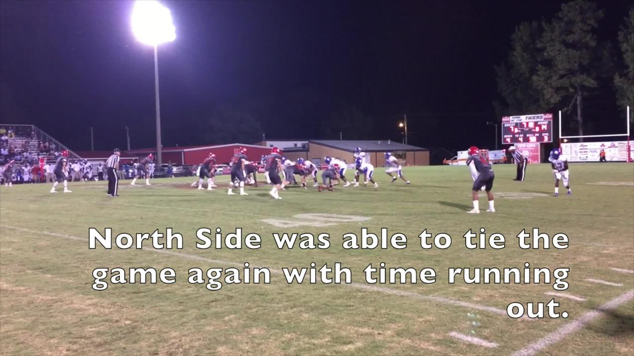 Action from North Side's 21-14 win over Lexington in Region 6-4A.