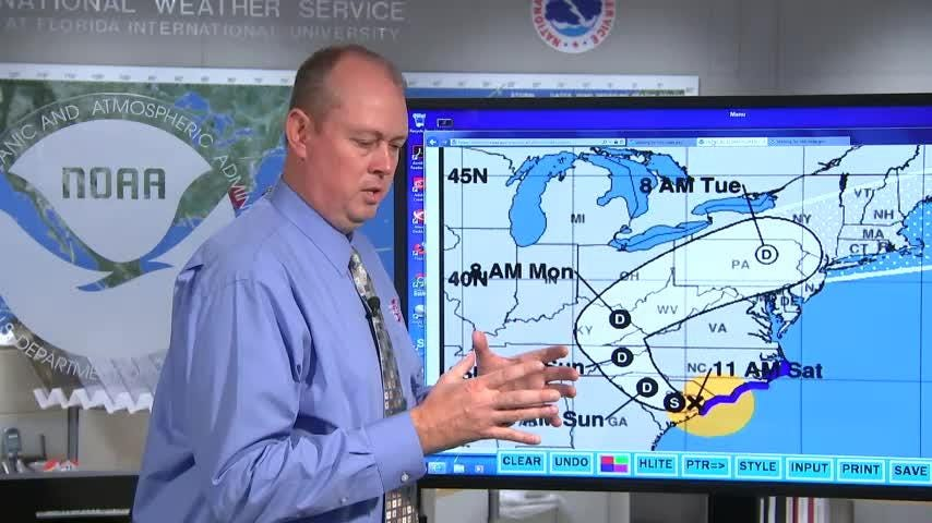 In our final Florence update from the National Hurricane Center, NHC director Ken Graham discusses how the mountains compound the rain/flooding potential.