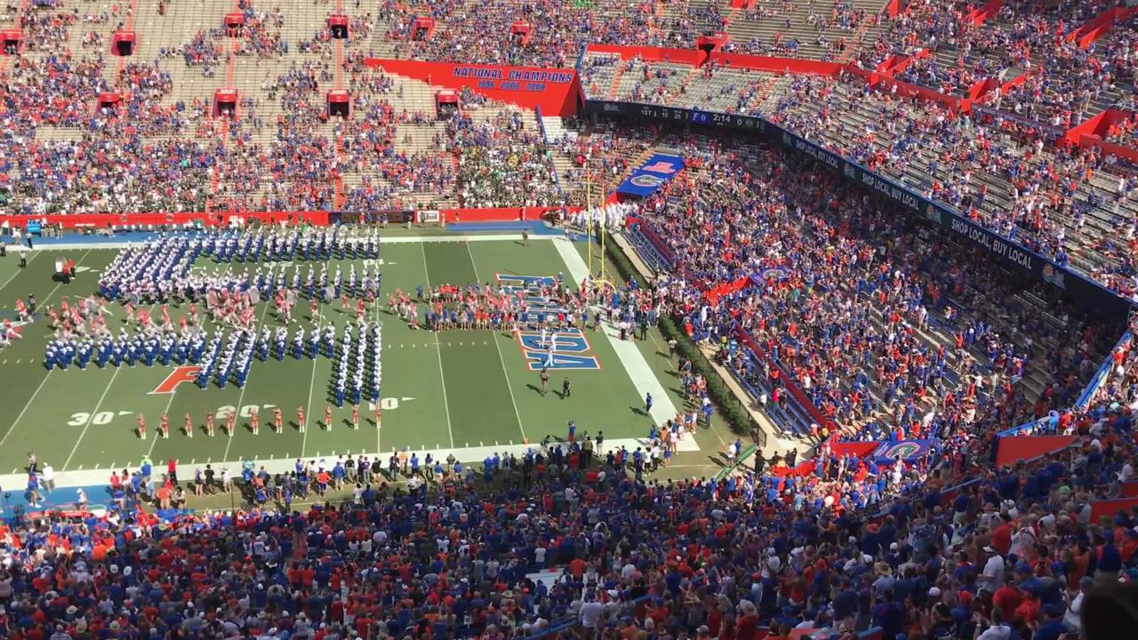 Watch the Colorado State and Florida football teams take the field before kickoff in Gainesville.