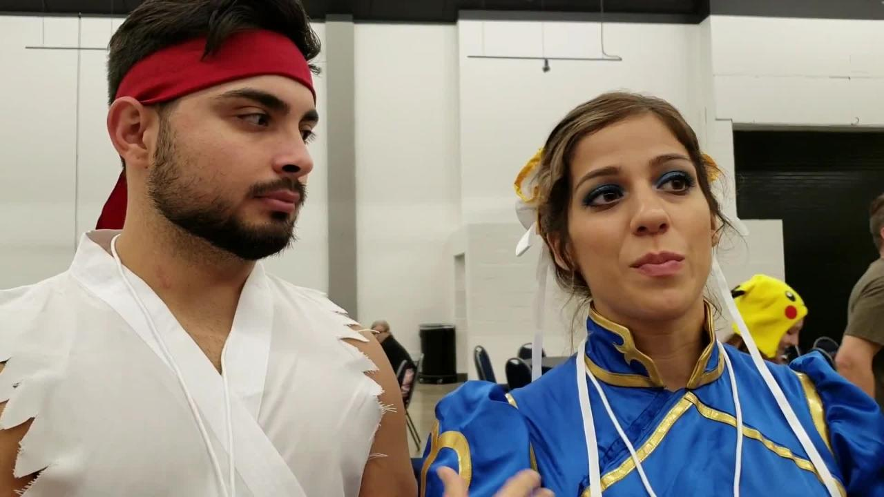 Aaron and Kim Lopez, from Houston, talk about the potential for anime conventions here.