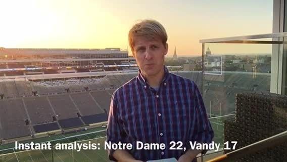 Vanderbilt beat reporter Adam Sparks breaks down the Commodores' 22-17 loss to No. 8 Notre Dame.