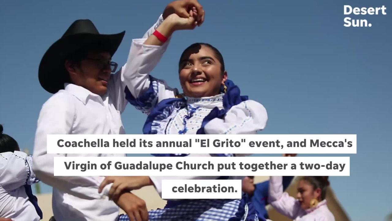 Mecca's Virgin of Guadalupe Church Mexican Independence Day festival included Mexican food and traditional dances.