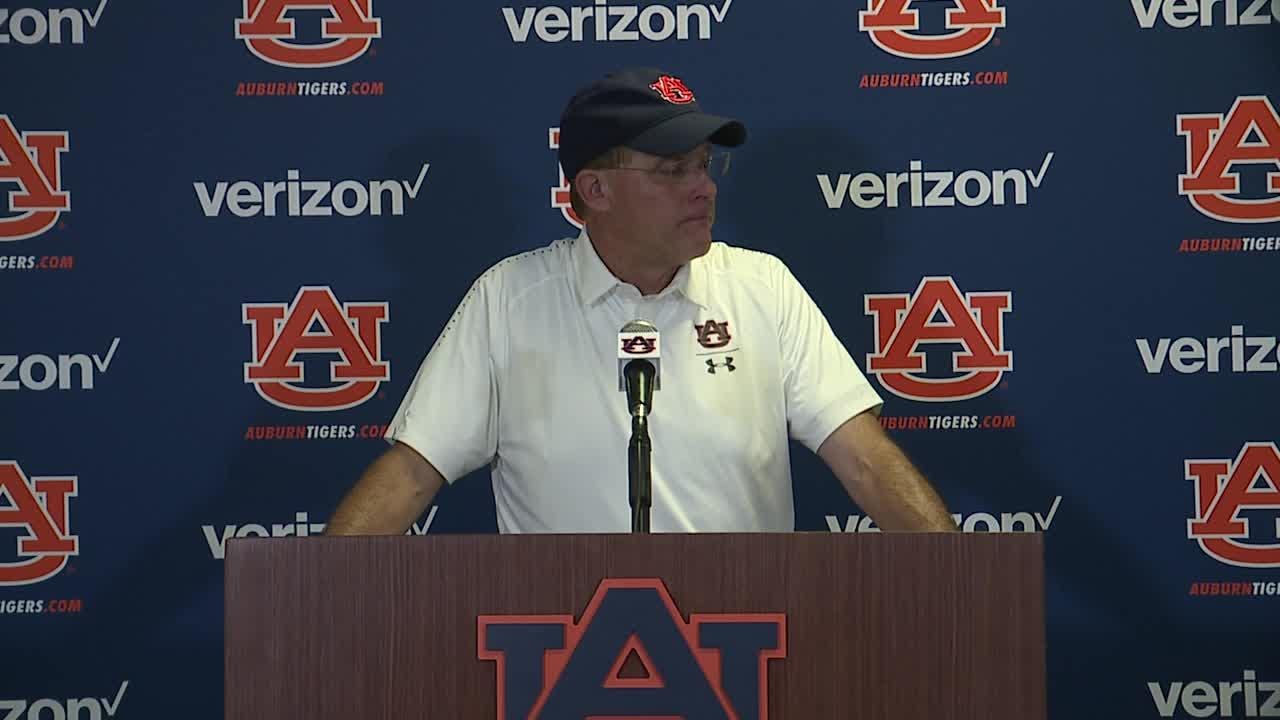 "The sixth-year head coach said Auburn ""didn't make the plays to win the game."""