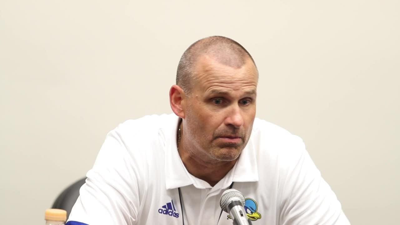 Delaware head coach Danny Rocco said a slow start for the Hens wasn't a big concern against Cornell. His team won, 27-10.