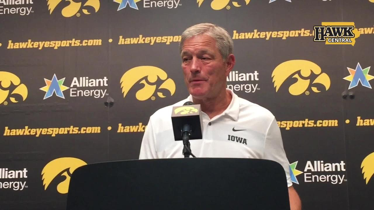 Iowa coach Kirk Ferentz saw some good things in practice Wednesday. He was right, as the Hawkeyes rolled UNI, 38-14.
