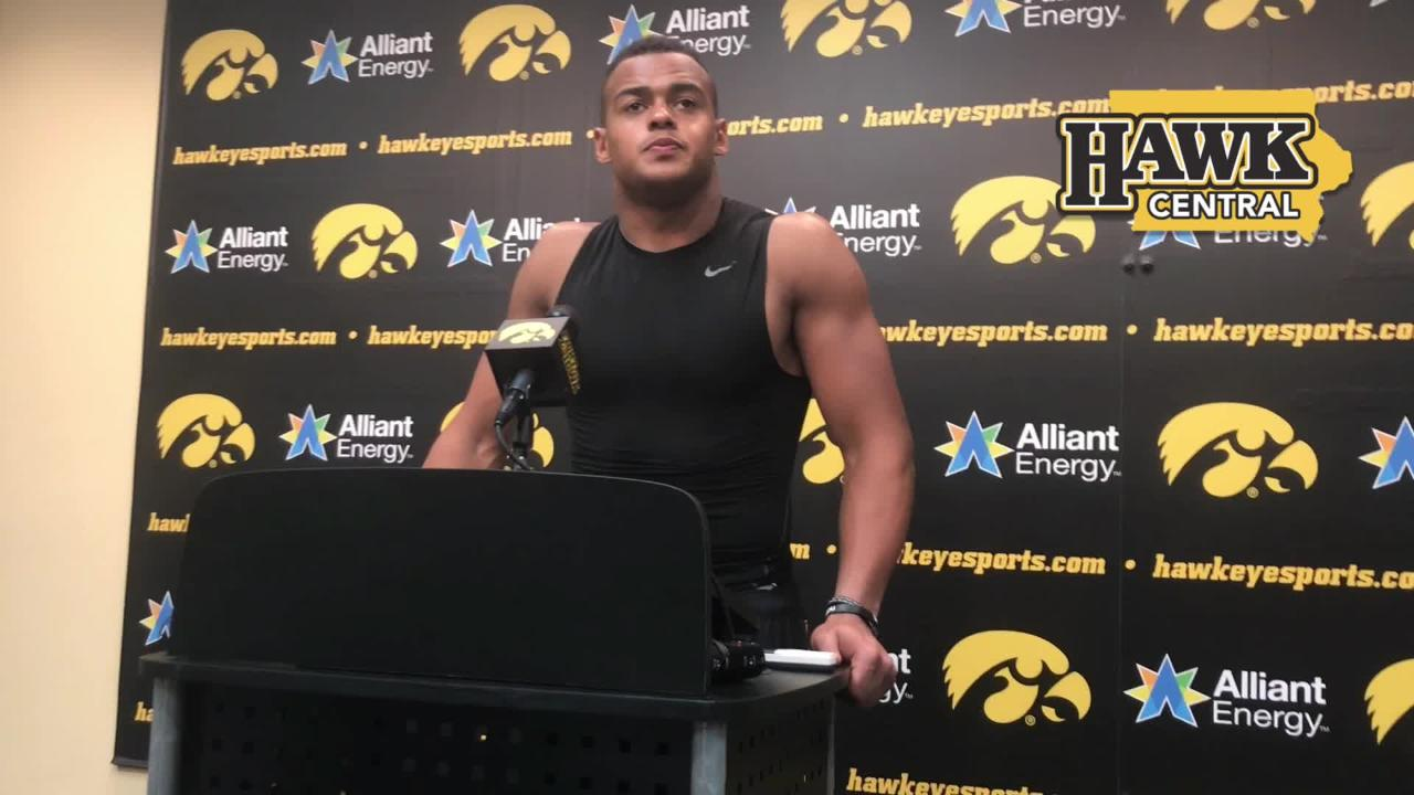 Iowa tight end Noah Fant says his offense's tempo put Northern Iowa on its heels