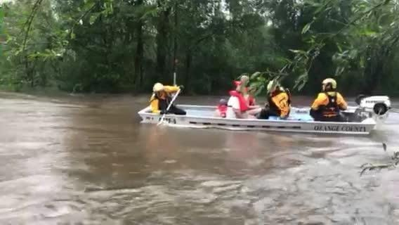 California Task Force Five — a team of 16 firefighters trained in water rescue — was deployed to the eastern N.C. town of Beulaville stranded by Florence.