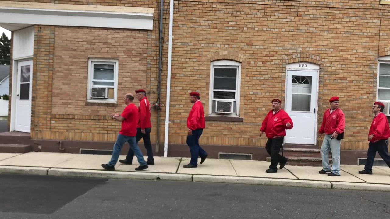 Curtis Sliwa and four Guardian Angels toured Manville and spoke to residents on how to counter crime in the borough.