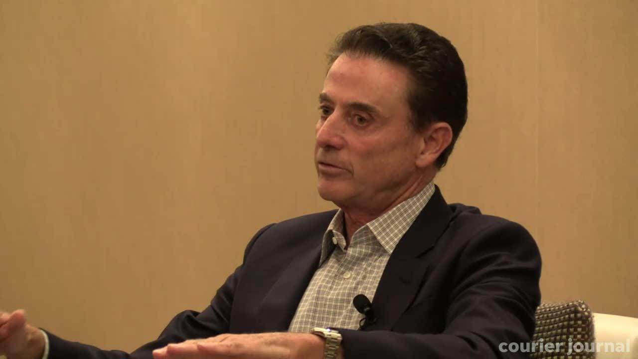 Rick Pitino talked with the Courier Journal's Jeff Greer about the NCAA, FBI and the former Louisville coach's life since he left.