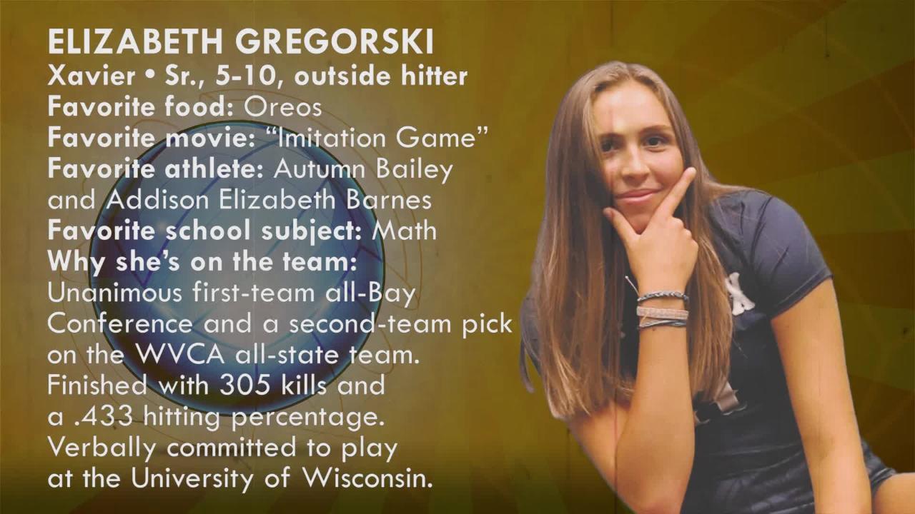 Sensational 6 volleyball 2018: Elizabeth Gregorski  | Xavier Hawks