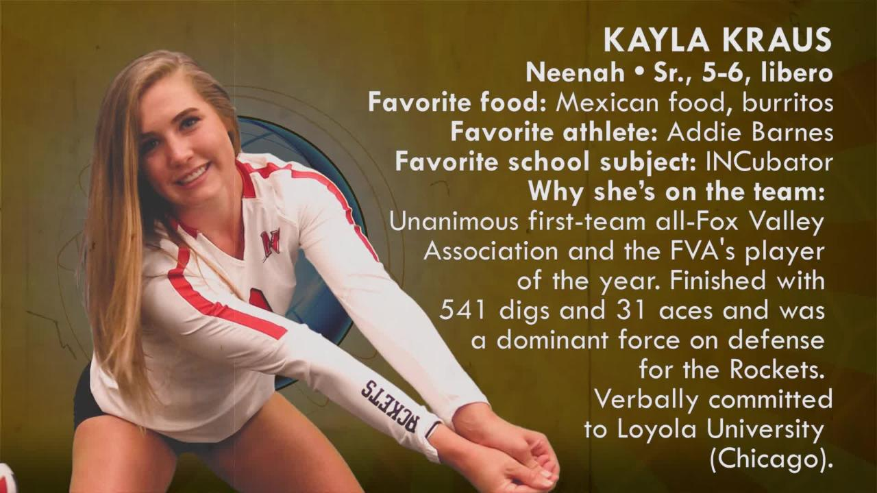 Sensational 6 volleyball 2018: Kayla Kraus | Neenah Rockets