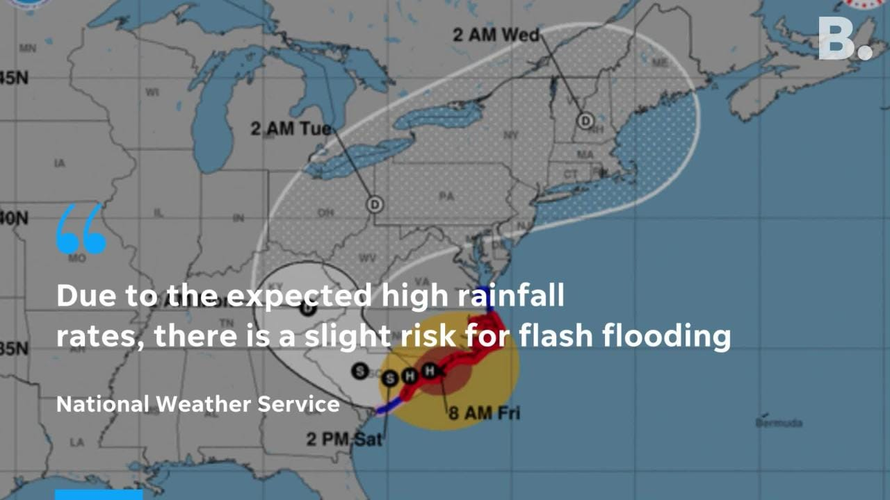 What's left of Hurricane Florence is headed to Vermont and the National Weather Service issued a hazardous weather outlook Monday, Sept. 17, 2018.