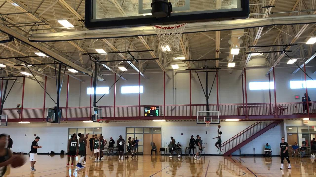 Players try out for the Wisconsin Herd in Oshkosh