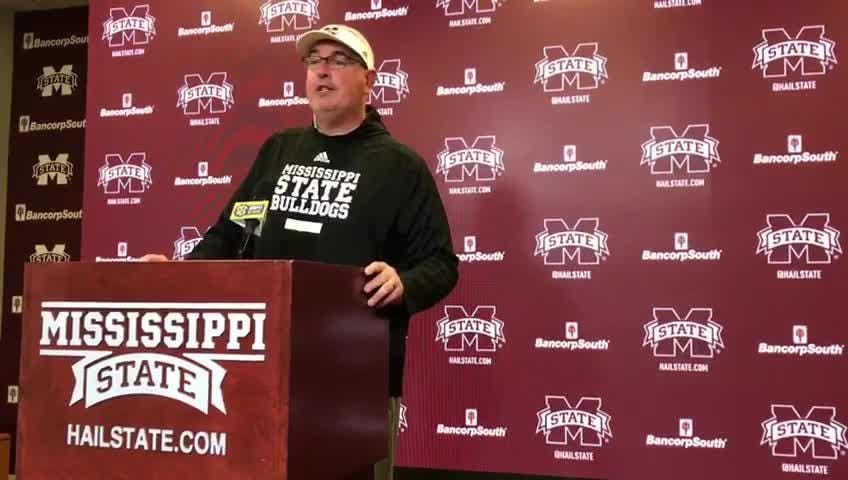Mississippi State head coach Joe Moorhead previews the No. 14 Bulldogs' game against undefeated Kentucky.