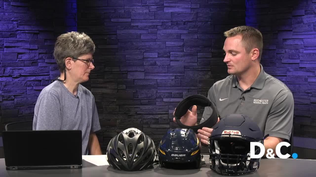 Helmets are like car bumpers for your head, cut concussion risk