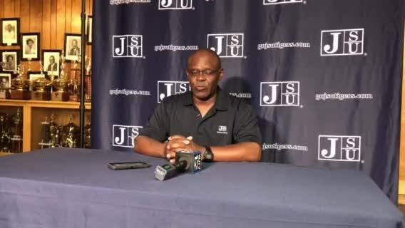 JSU coach Tony Hughes talked about the win over Florida A&M and what it means for the Tigers at his weekly press conference Monday.