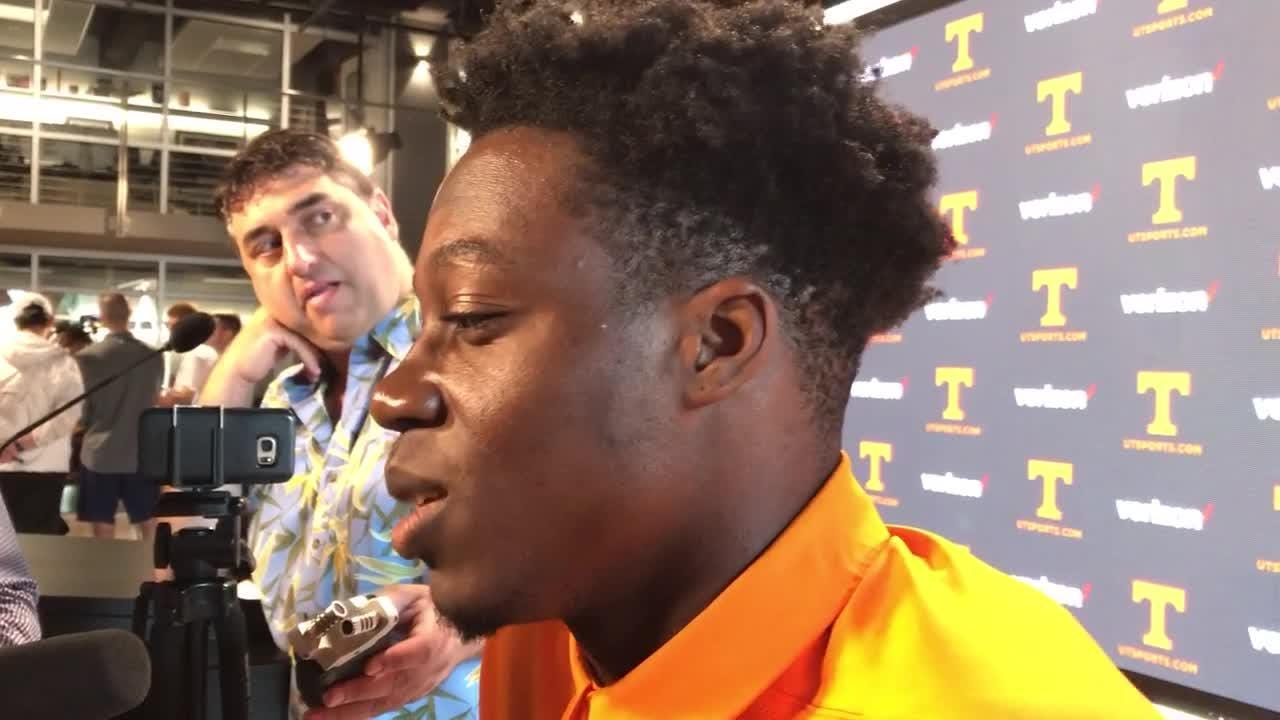 Tennessee sophomore wide receiver Josh Palmer met with the media Monday