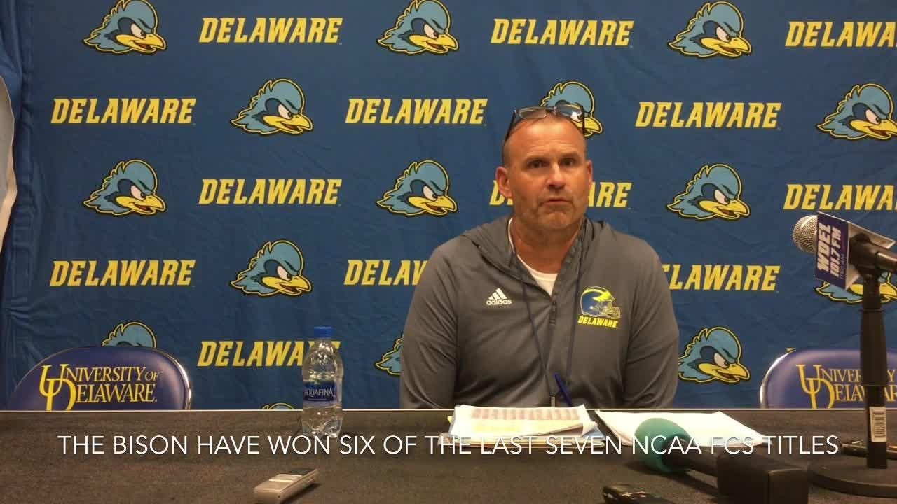 Coach Danny Rocco discusses Blue Hens' challenging trip to No. -1 ranked North Dakota State