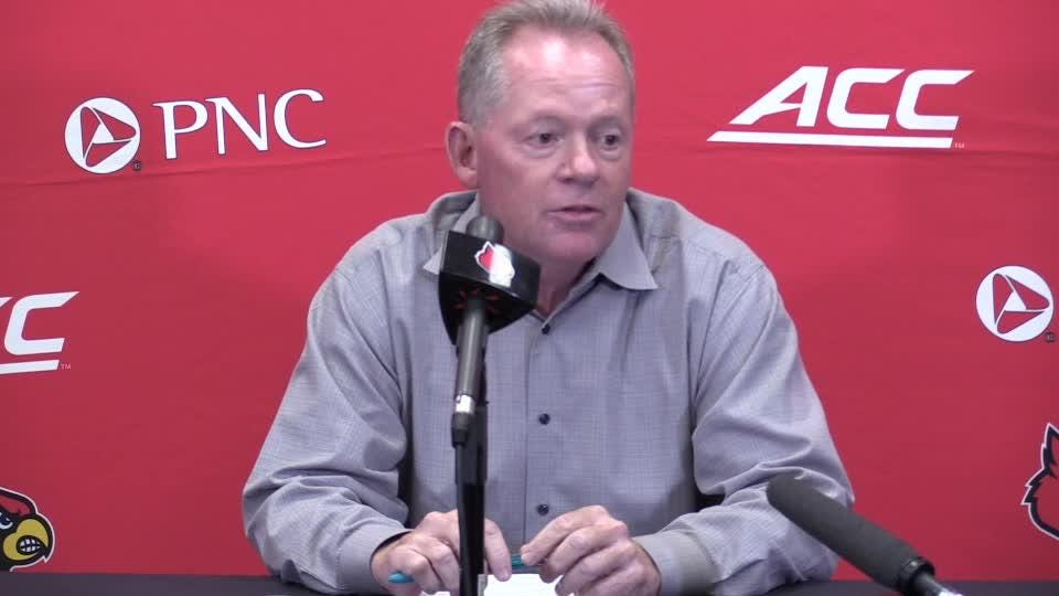 Petrino says the team so far hasn't had any big plays, and 'that's something that has to change.'