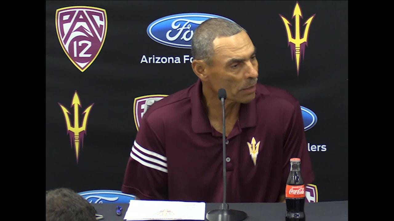 ASU coach Herm Edwards talks about Washington Huskies and coach Chris Petersen