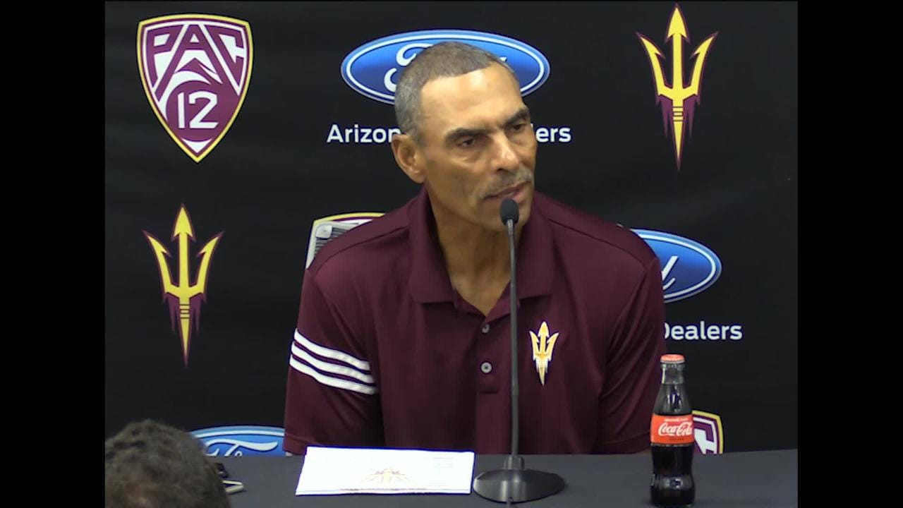 Herm Edwards says he went to the office at 3:30 a.m. after returning from San Diego after ASU lost 28-21 to San Diego State.