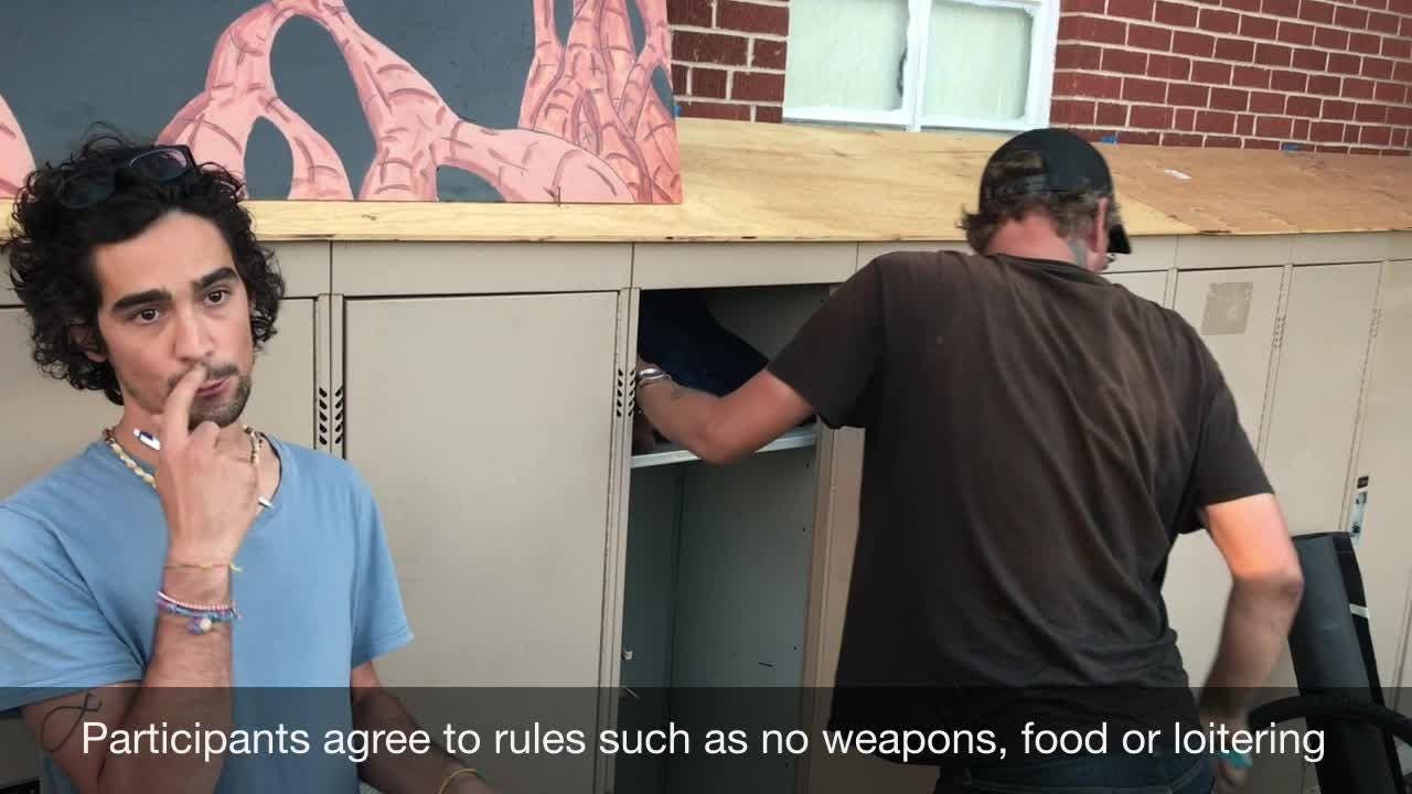 The Fort Collins Mennonite Fellowship started offering lockers for homeless people last week, despite an appeal filed to the City Council.