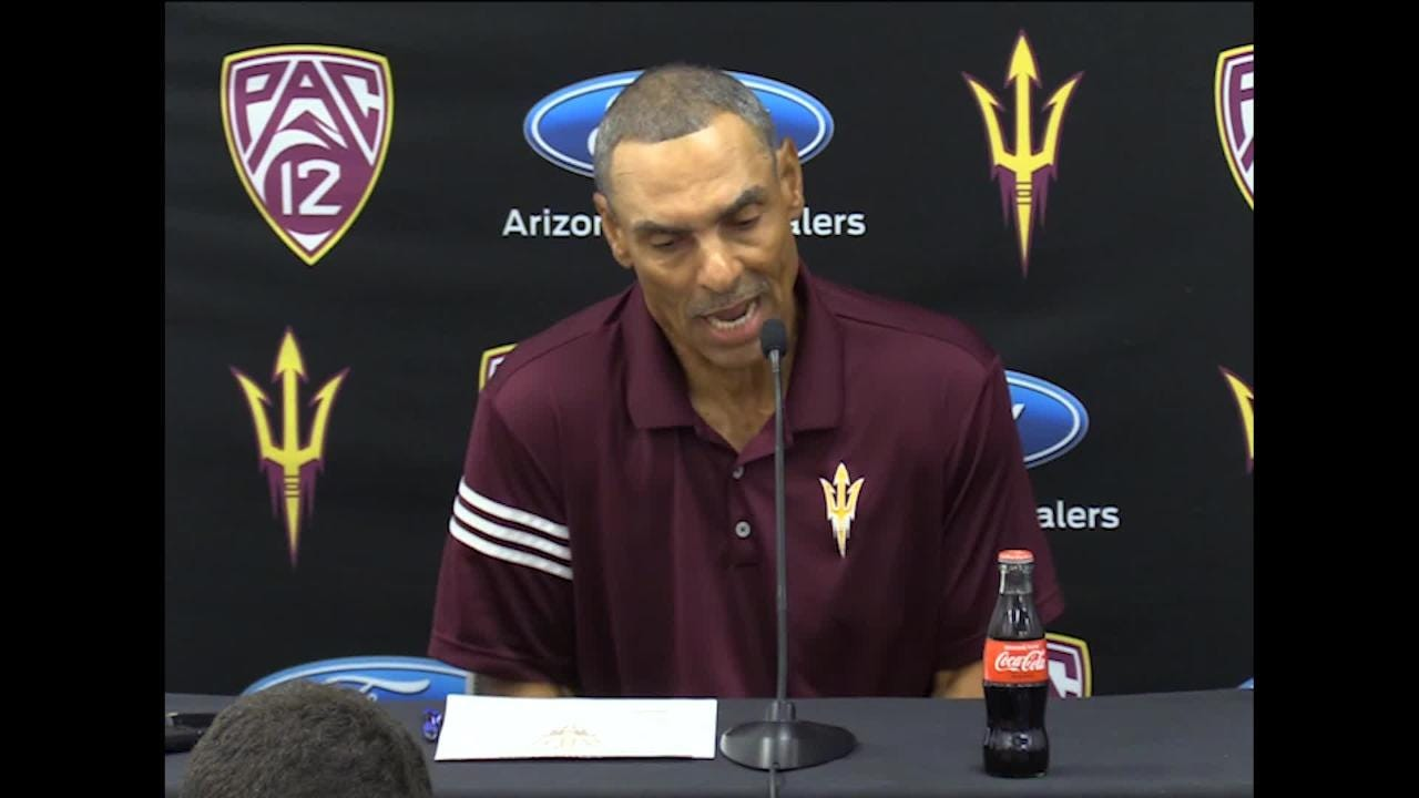 ASU coach Herm Edwards talks about his players showing emotion and energy on the sidelines