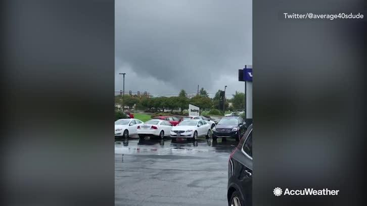 Tornadoes touched down in Virginia on Monday afternoon with damage being reported around the state capital of Richmond.