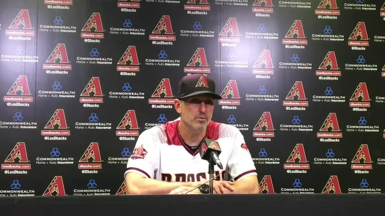 Diamondbacks manager Torey Lovullo discusses his team's defeat at the hands of the Cubs on Monday.