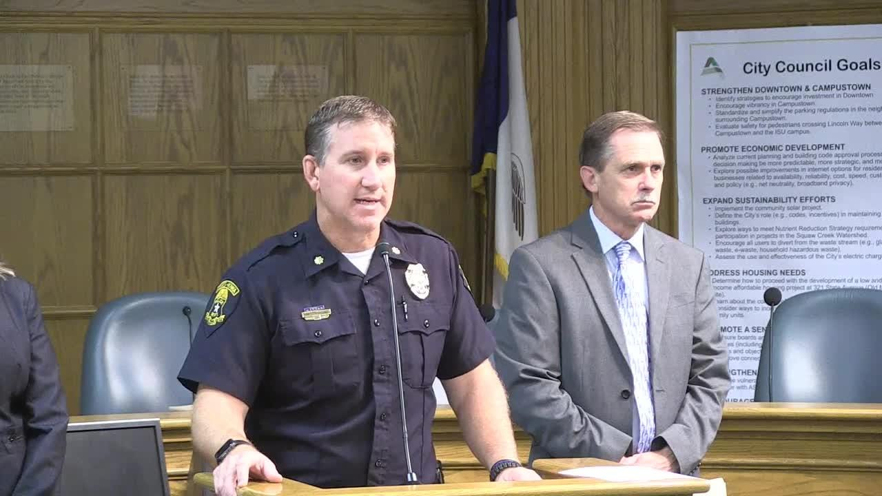 Commander Geoff Huff with the Ames Police department offers details on the death of former Iowa State golfer Celia Barquin Arozamena.